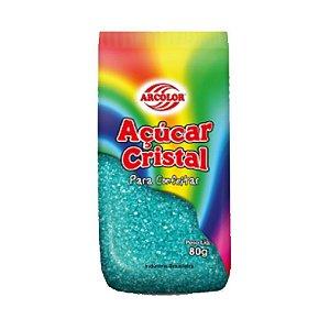 Açucar Cristal Azul 80 g Arcolor Rizzo Confeitaria
