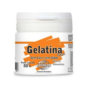 Gelatina Neutra 50 g  Arcolor Rizzo Confeitaria