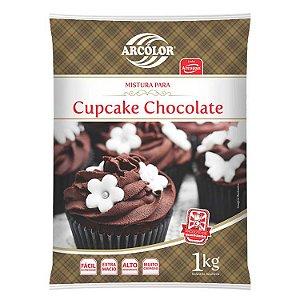 Mistura para CupCake de Chocolate 1 kg Arcolor Rizzo Confeitaria