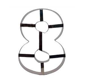 Aro Cortador Número 8 (oito) Doupan Rizzo Confeitaria