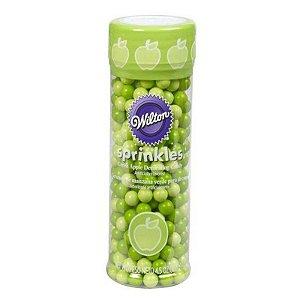 Pérolas de Açúcar Comestíveis Verde Maça 127 g Wilton Rizzo Confeitaria
