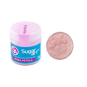 Pó para Decoração Rosa Pétala 3g Sugar Art Rizzo Confeitaria