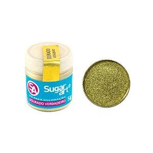 Pó para Decoração Dourado Verdadeiro 5g Sugar Art Rizzo Confeitaria