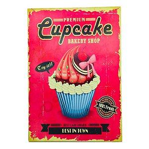 Placa Decorativa CupCake Pink Onyx Rizzo Confeitaria