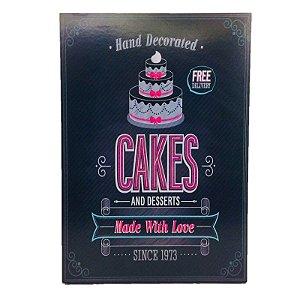 Placa Decorativa Cake Onyx Rizzo Confeitaria