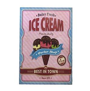 Placa Decorativa Ice Cream Rosa Onyx Rizzo Confeitaria