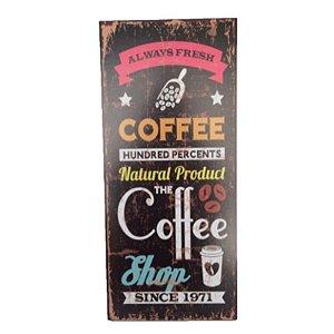 Placa Decorativa Café Mod. 2 Onyx Rizzo Confeitaria