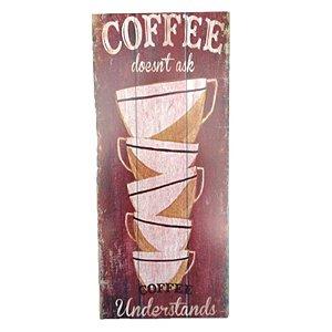 Placa Decorativa Café Mod. 3 Onyx Rizzo Confeitaria
