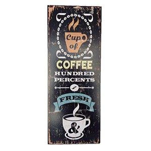 Placa Decorativa Café Mod. 9 Onyx Rizzo Confeitaria