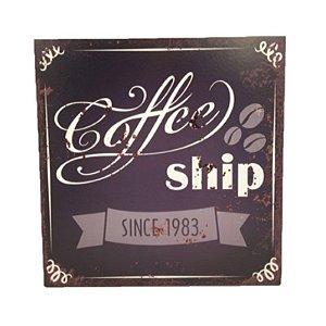 Placa Decorativa Café  Mod. 13 Onyx Rizzo Confeitaria