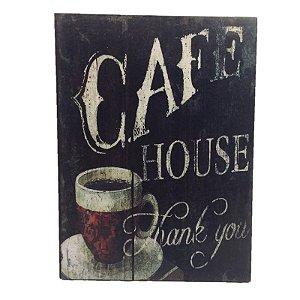Placa Decorativa Café Mod. 20 Onyx Rizzo Confeitaria