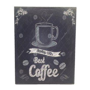 Placa Decorativa Café Mod. 23 Onyx Rizzo Confeitaria