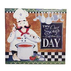 Placa Decorativa Chef Cozinheiro Mod. 5 Onyx Rizzo Confeitaria