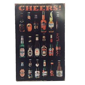 Placa Decorativa Bebidas Mod. 4 Onyx Rizzo Confeitaria