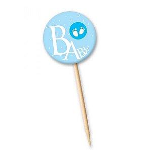 Tag Baby Azul com 12 un. Cód. 4137 Miss Embalagens Rizzo Confeitaria