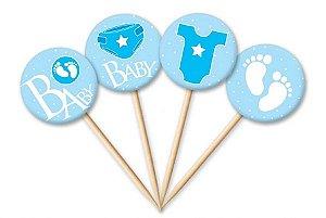 Tag Baby Menino com 12 un. Cód. 4465 Miss Embalagens Rizzo Confeitaria