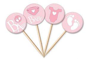 Tag Baby Menina com 12 un. Cód. 4458 Miss Embalagens Rizzo Confeitaria