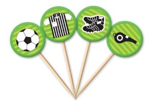 Tag Futebol com 12 un. Cód. 4472 Miss Embalagens Rizzo Confeitaria