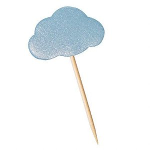 Tag Nuvem Azul com 12 un. Cód. 4557 Miss Embalagens Rizzo Confeitaria