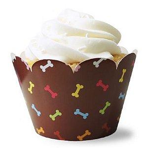 Wrapper para CupCake Ossinhos com 12 un. Miss Embalagens Rizzo Confeitaria