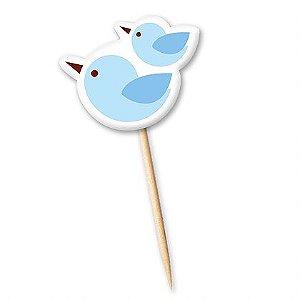 Tag Pássaro Azul com 12 un. Cód. 0078 Miss Embalagens Rizzo Confeitaria