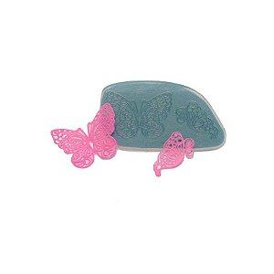 Molde de silicone Renda Borboleta Ref. 183 Flexarte Rizzo Confeitaria