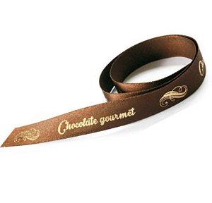 Fita de Cetim Chocolate Gourmet ECF003H 248 Progresso Rizzo Confeitaria