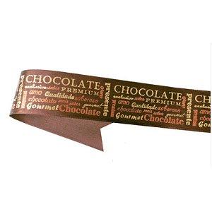 Fita de Cetim Chocolate ECF009H 253 Progresso Rizzo Confeitaria