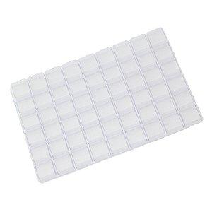 Berço para Doces com 54 cavidades Transparente com 5 un. Crystal Rizzo Confeitaria