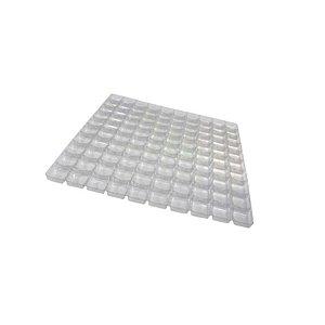 Berço para Doces com 100 cavidades Transparente com 5 un. Crystal Rizzo Confeitaria