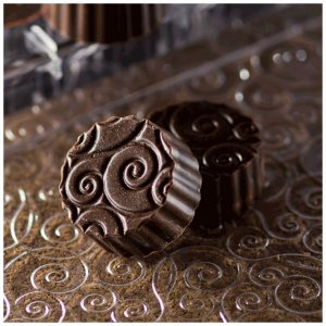 Placa de Textura para Chocolate Arabesco Mod. 1 Crystal Rizzo Confeitaria