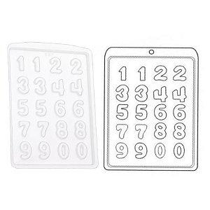 Forma de Acetato Números Mod.130  Crystal Rizzo Confeitaria