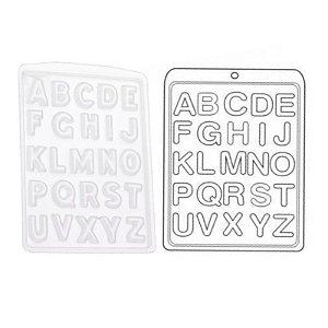 Forma de Acetato Alfabeto Mod. 133  Crystal Rizzo Confeitaria
