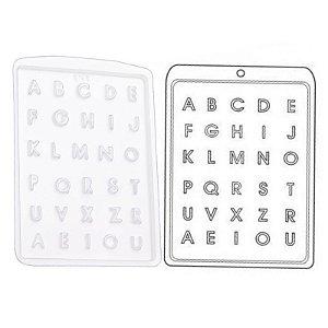 Forma de Acetato Mini Alfabeto Mod. 131  Crystal Rizzo Confeitaria