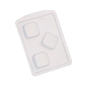 Forma Prática Pão de Mel Quadrado Médio Mod. FP34 Crystal Rizzo Confeitaria