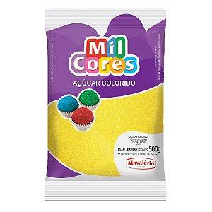 Açúcar Cristal Amarelo 500 g Mil Cores Mavalério Rizzo Confeitaria
