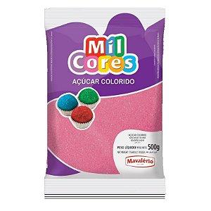 Açúcar Cristal Rosa 500 g Mil Cores Mavalério Rizzo Confeitaria