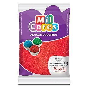 Açúcar Cristal Vermelho 500 gr Mil Cores Mavalério Rizzo Confeitaria