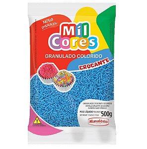 Granulado Crocante Azul Aquarela 500 g Mil Cores Mavalério Rizzo Confeitaria