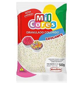 Granulado Crocante Branco Aquarela 500 g Mil Cores Mavalério Rizzo Confeitaria