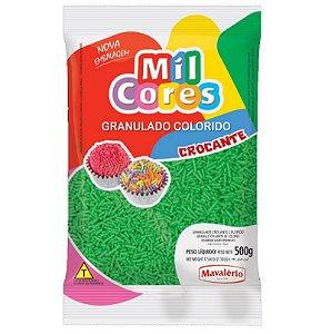 Granulado Crocante Verde Aquarela 500 g Mil Cores Mavalério Rizzo Confeitaria
