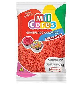 Granulado Crocante Vermelho Aquarela 500 g Mil Cores Mavalério Rizzo Confeitaria