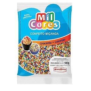 Confeito Miçanga Colorida Nº 0 500 g Mil Cores Mavalério Rizzo Confeitaria