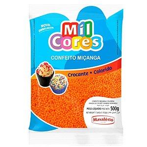 Confeito Miçanga Laranja Nº 0 500 g Mil Cores Mavalério Rizzo Confeitaria