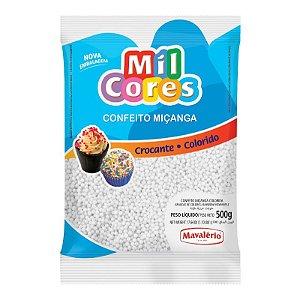 Confeito Miçanga Branca Nº 0 500 g Mil Cores Mavalério Rizzo Confeitaria