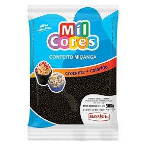 Confeito Miçanga Preta Nº 0 500 g Mil Cores Mavalério Rizzo Confeitaria