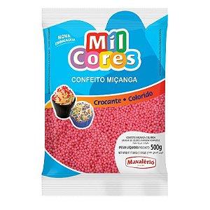Confeito Miçanga Rosa Nº 0 500 g Mil Cores Mavalério Rizzo Confeitaria