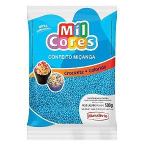 Confeito Miçanga Azul Nº 0 500 g Mil Cores Mavalério Rizzo Confeitaria