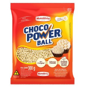 Choco Power Ball Micro Chocolate Branco 300 g Mavalério Rizzo Confeitaria