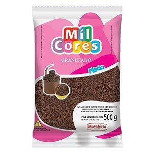 Granulado Macio Sabor Chocolate 500 g Mil Cores Mavalério Rizzo Confeitaria
